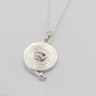 STG Fire Fighting Lay Flat Hose Coil Pendant & Chain_0