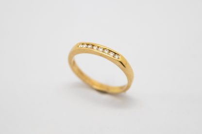 9ct Gold and Diamond Channel Set Wedder_0