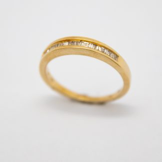 9ct Yellow Gold Baguette Ring_0