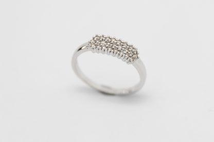 9ct White Gold Diamond Pave Ring_0