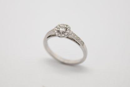 9ct White Gold Diamond Ring_0