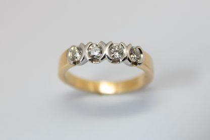 9ct Yellow Gold Diamond Ring_0