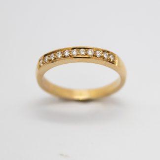 9ct Yellow Gold Grain Set Diamond Ring_0
