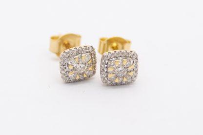 9ct Yellow Gold 0.33ct Diamond Earrings_0