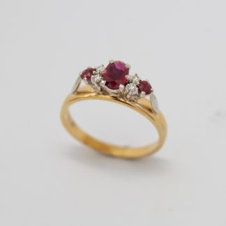 9ct Ruby and Diamond Ring_0