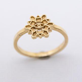 9ct Gold Flower Ring_0