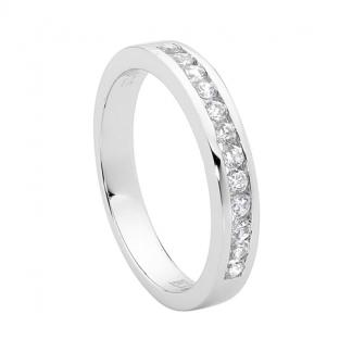 Stg/silver CZ Chanel set Ring_0