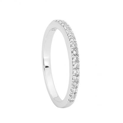 STG Single Row White CZ Band Ring_0
