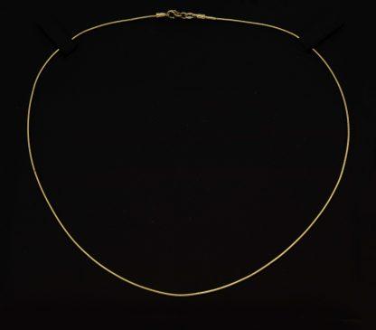 9ct Omega Round Chain 0.9mm_0