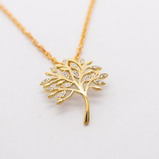9ct Gold Tree of Life Diamond Pendant_0