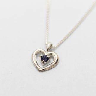 Stg Sapphire Heart Pendant_0