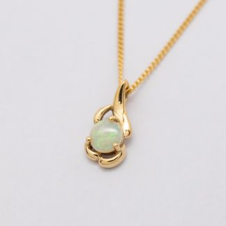 9ct Opal Pendant_0