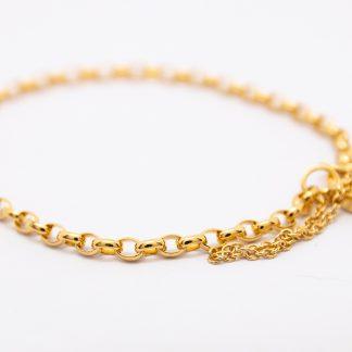 9ct Belcher Chain & Paddlock_0
