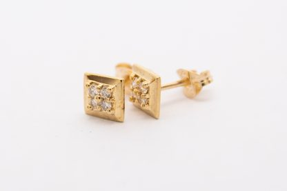 9ct Square Diamond Earrings_0