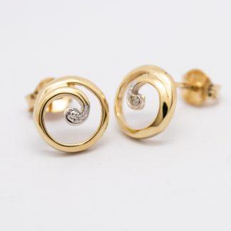 Diamond Koru Stud Earrings_0