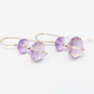 Stg Amethsyt Rondal Bead Earrings_0