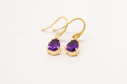 9ct Amethyst Drop Earrings_0