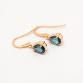9ct London Blue Topaz Earrings_0