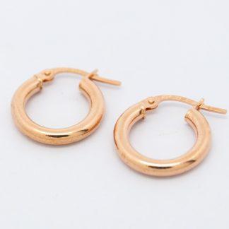 9ct Rose Gold Hoop Earrings_0