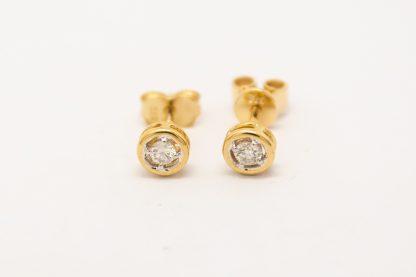 9ct Yellow Gold CZ Earrings & Scrolls_0