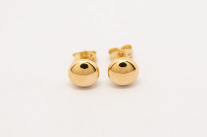 9ct Yellow Gold Flat Ball Stud Earrings & a Gold Filled Scroll_0