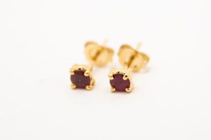 9ct Ruby Four Claw Stud Earrings_0