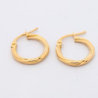 9ct Twist Tube Earrings_0