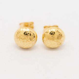 14ct Flat Ball Stud Earrings_0