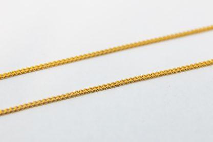 9ct Yellow Gold Diamond Cut Curb Chain._0