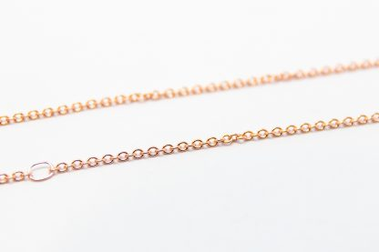 9ct Rose Gold Adjustable Plain Cable Chain._0