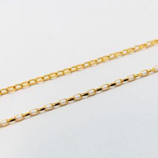 9ct Yelllow Gold Diamond Cut Oval Belcher Chain_0