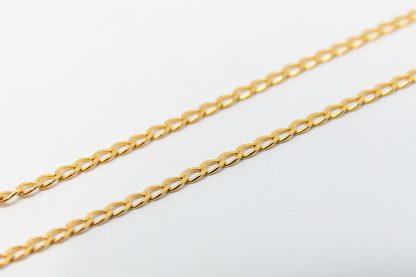 9ct Yellow Gold Diamond Cut Long Curb Chain_0
