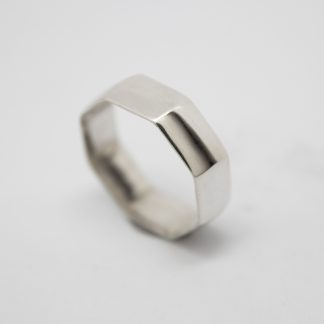 Stg Ring with Flat Hex Shaped Sides_0