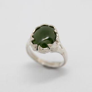 Stg Fern Claw Greenstone Ring_0