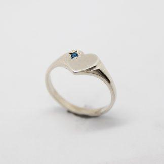 Stg CZ Birthstone Heart Shape Ring (December)_0