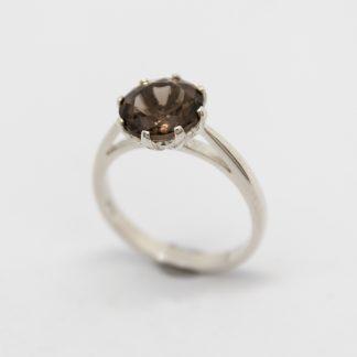 Stg/silver Smokey Quartz ring_0