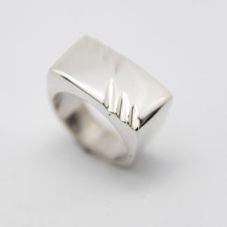 STG Flat Top Dome Ring with Grooves_0