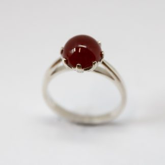 Stg/silver Carnelian cocktail ring_0