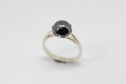 Stg/silver Haematite Cocktail Ring_0