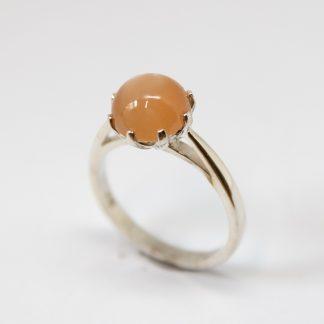 Stg/silver Orange Moonstone Ring_0