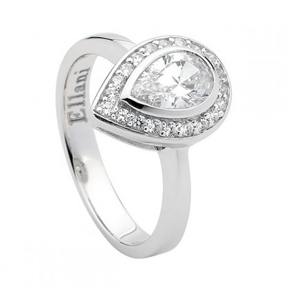 STG CZ Pear with CZ surround ring_0