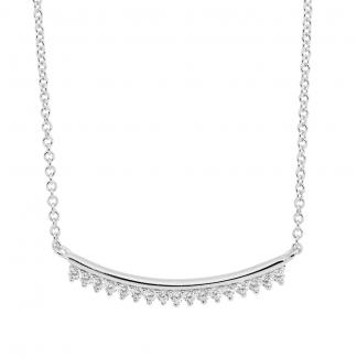 Stg CZ Curved Bar Necklace_0