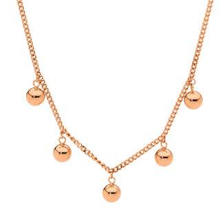 S/Steel Necklace Rose Gold Plated_0