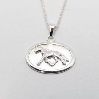 Stg/silver Horse Pendant_0