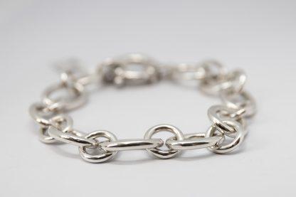 Stg Heavy Oval Round Link Bracelet_0