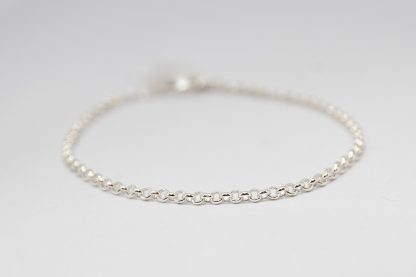 Stg/silver round belcher bracelet_0