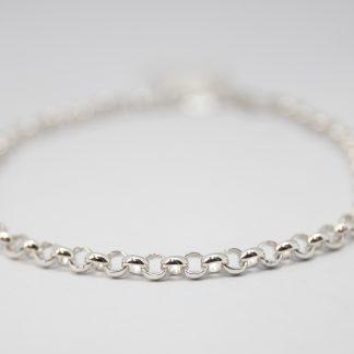 Stg/silver Belcher Bracelet_0