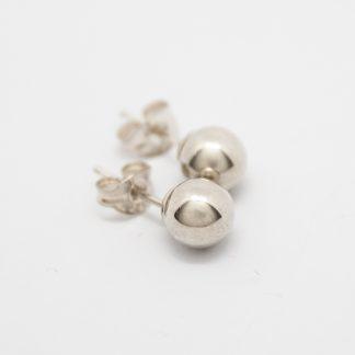 Stg 6mm Ball Stud Earrings_0