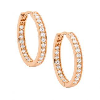 Stg Inside Out Rose Gold Hoop Earrings_0