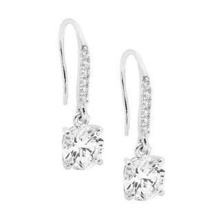 Stg CZ Shepherds Hook Earrings_0